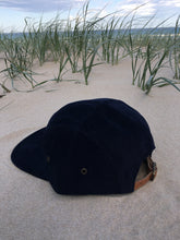 Load image into Gallery viewer, 5 panel Hat ( dark blue cordaroy )