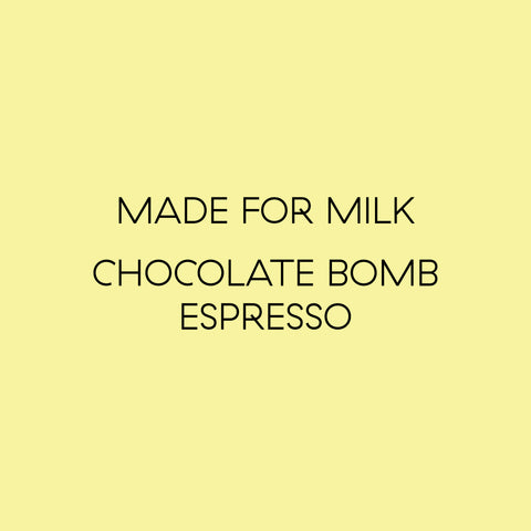 CoCo espresso blend made for milk chocolate bomb