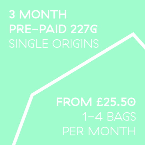 3 Month Pre-Paid Subscription 227g | 1-4 bags a month
