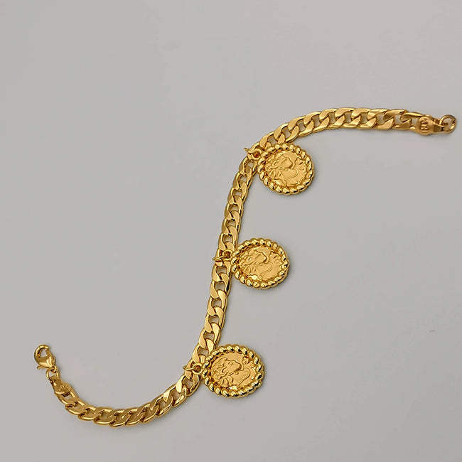 21K Gold Plated Camay Bracelet - Offer Hunts