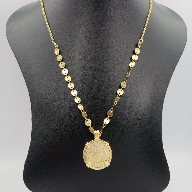 24K Gold Plated Coin Necklace - Style 4 - Offer Hunts