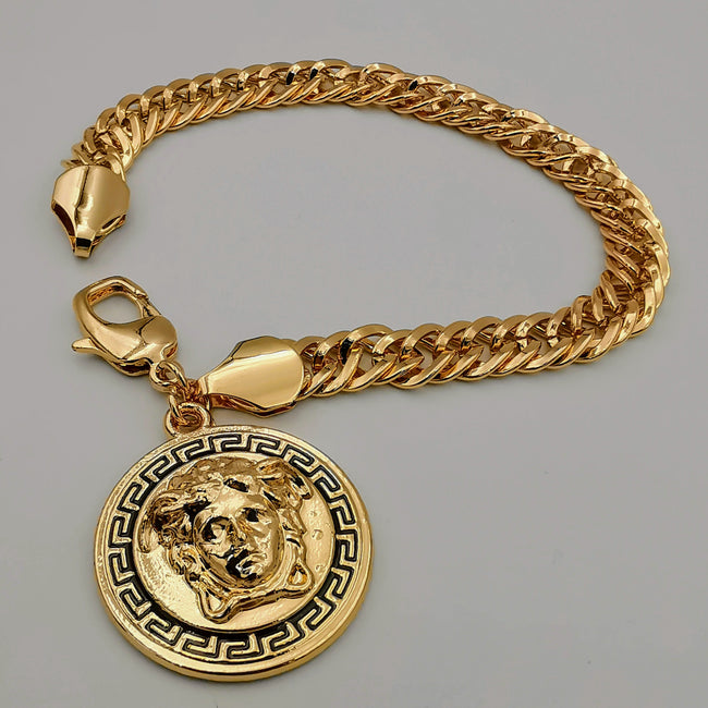 18K Rose Gold Plated 3D Vers.ace Chain Bracelet - Offer Hunts