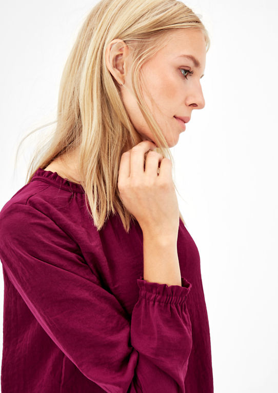 Satin Mauve Blouse - s.Oliver - Offer Hunts