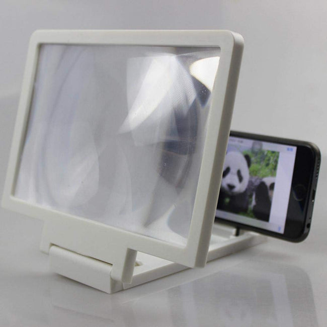 3D Phone Screen Magnifier to 8 Inch Screen - Compatible with All Smartphones - Offer Hunts