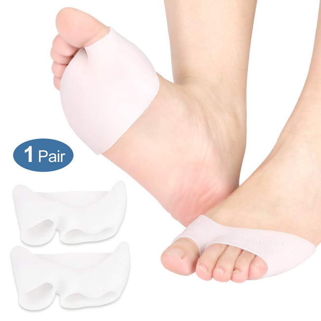 Soft Silicone Forefoot Pads for Pain Relief, Diabetic Feet, Callus and Blisters Prevention [1 Pair] - Offer Hunts
