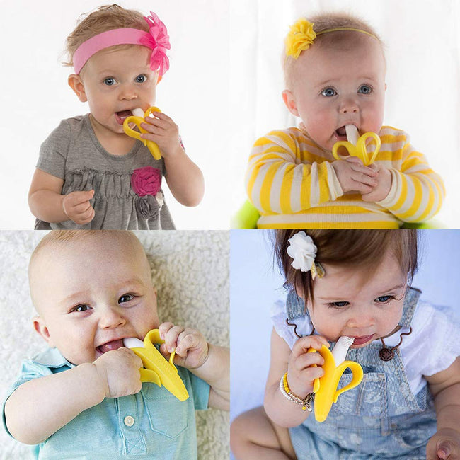 Baby Banana Teething Soothers - Soft Baby Toothbrush - Offer Hunts