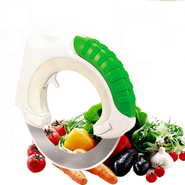 Circular Rolling Knife Stainless Steel - Cutting Vegetables and Meat - Offer Hunts