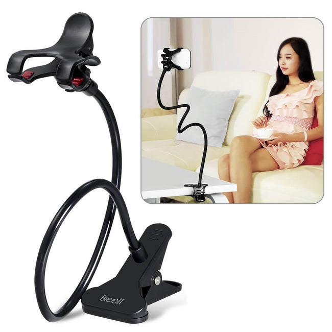 Cell phone Flexible Holder - Fit On any Table and Bed (Black) - Offer Hunts