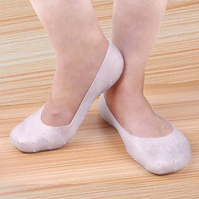 Silicone Gel Moisturizing Socks Foot Care Protector [PAIR] - Offer Hunts