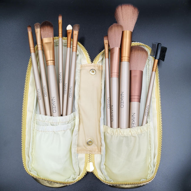 NAKED Makeup Brushes 11 PCs Makeup Brush Set Premium Quality (Rose Gold) - Offer Hunts