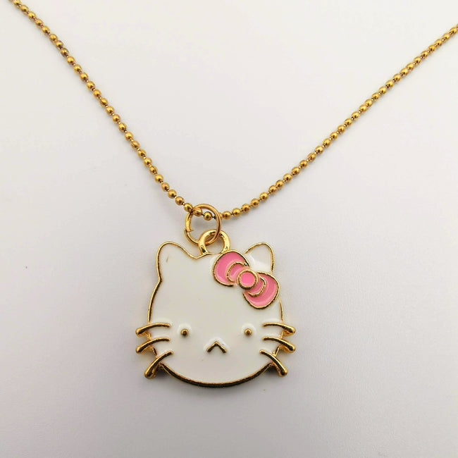 Hello Kitty Collection Necklace - Pink Bowtie - Offer Hunts