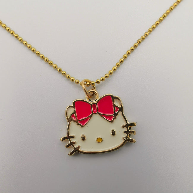 Hello Kitty Collection Necklace - Purple Bowtie - Offer Hunts