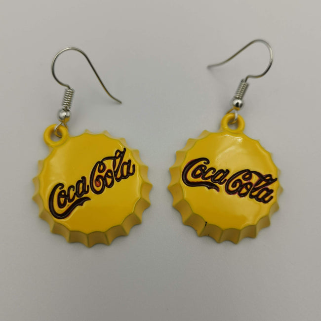 Coca-Cola Dangling Earrings - Multiple Colors - Offer Hunts