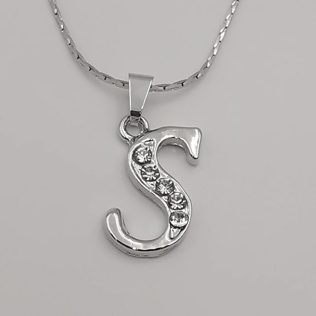 Letter Necklaces - Zirconia Crystals - Offer Hunts