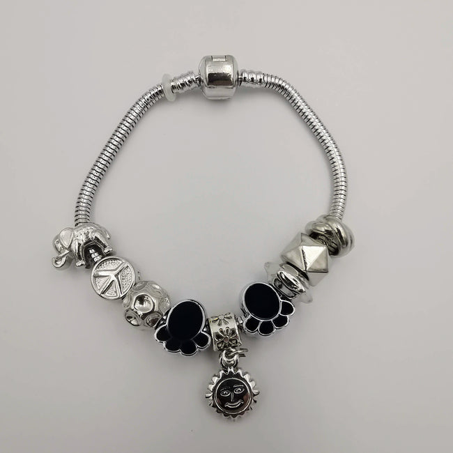 Black Paw Charm Bracelet - Pand0ra Like - Offer Hunts