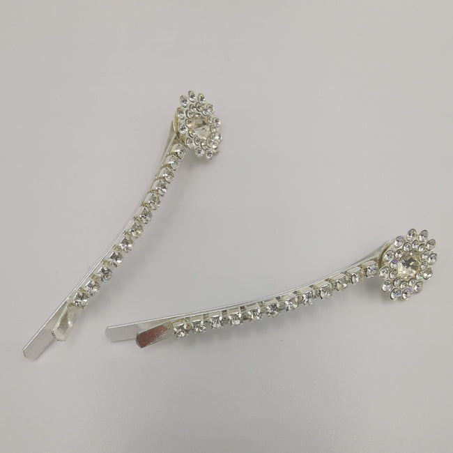 Hair Clip with Zirconia Crystals - 2 Pieces - Offer Hunts