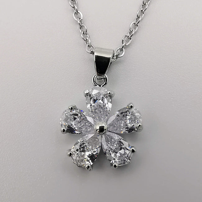 Twilight Star Silver Necklace - CZ Crystals - Offer Hunts