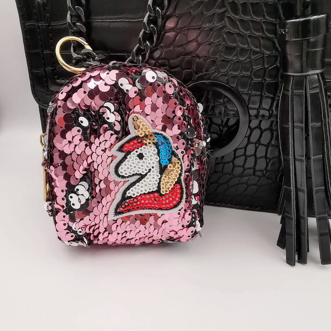 Pink Unicorn Reversible Glitter Sequin Purse - Offer Hunts