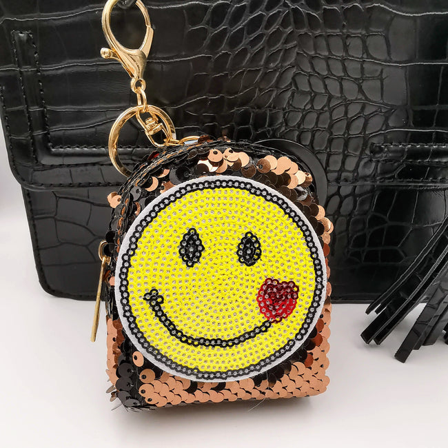 Bronze Smiley Glitter Sequin Purse - Offer Hunts