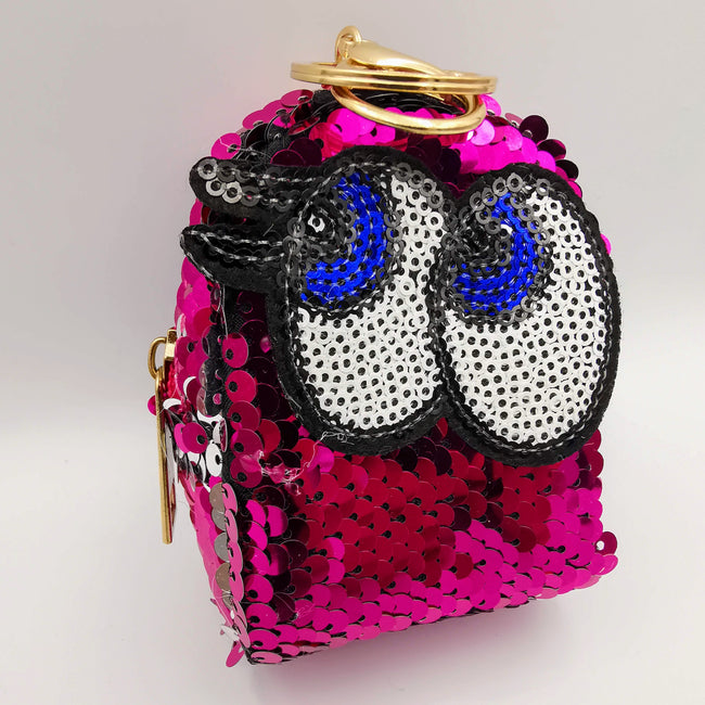 Pink Eyes Reversible Glitter Sequin Purse - Offer Hunts
