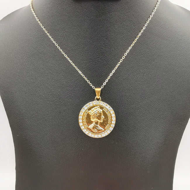 Royal Coin Necklace - Golden - Offer Hunts