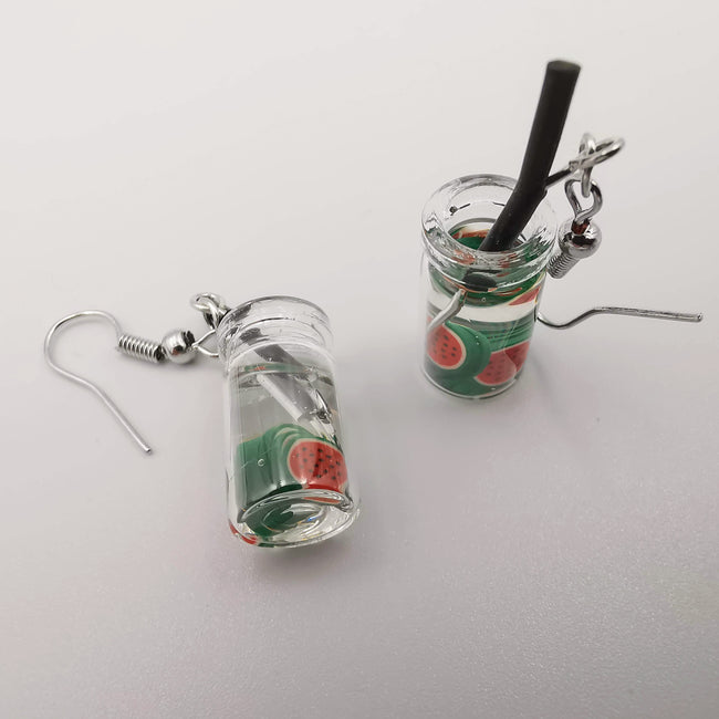 Watermelon Juice Earrings - Offer Hunts