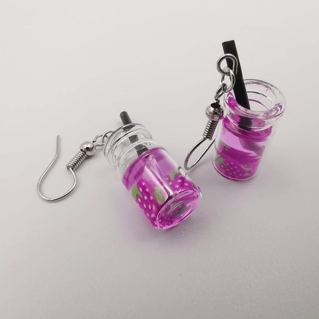 Blueberry Juice Earrings - Offer Hunts