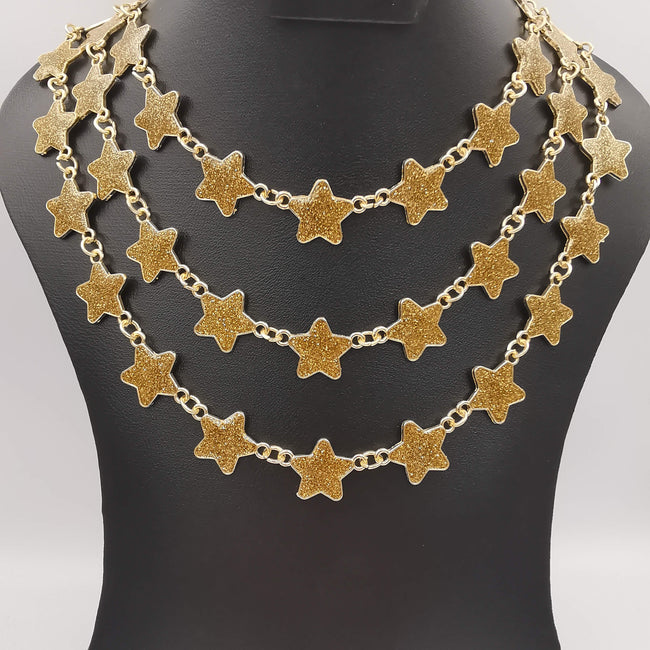 Star Solar Twirl 3 Layer Necklace - Multiple Colors - Offer Hunts