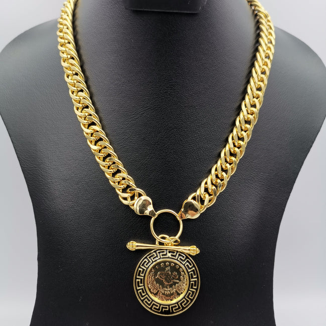 Premium 24K Gold Plated Majestic Coin Necklace - Offer Hunts