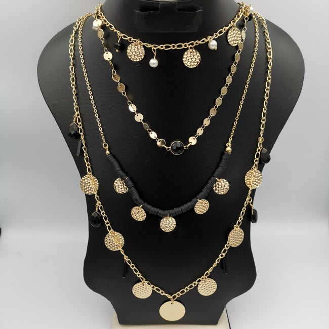 Beaded Pearl 4 Layer Necklace - Multiple Designs - Offer Hunts