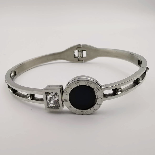Bvlga.ri Clone Solo Black Square Zirconia - Stainless Steel - Offer Hunts