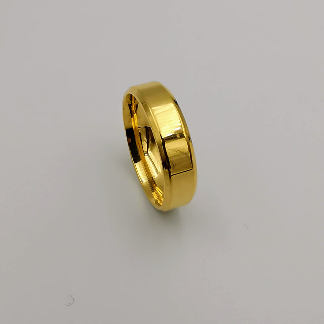 Wedding Band Ring - Laser Smoothed Edges - 24K Gold Plate - Offer Hunts