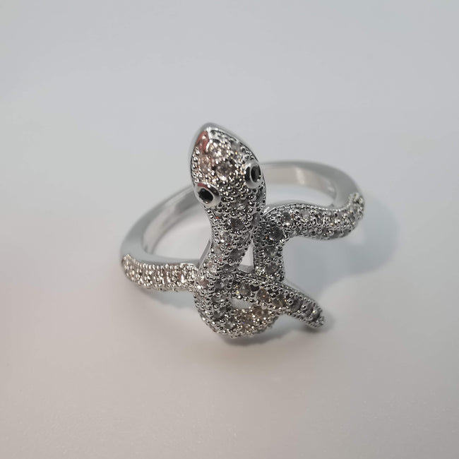 Snake Ring - 24K White Gold Plate - Offer Hunts