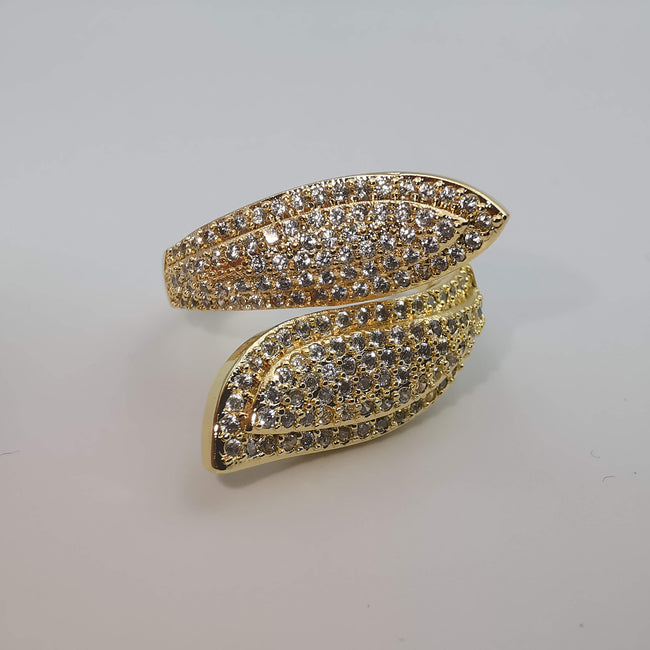 Double Snake Adjustable Ring - 24K Gold Plate - Offer Hunts
