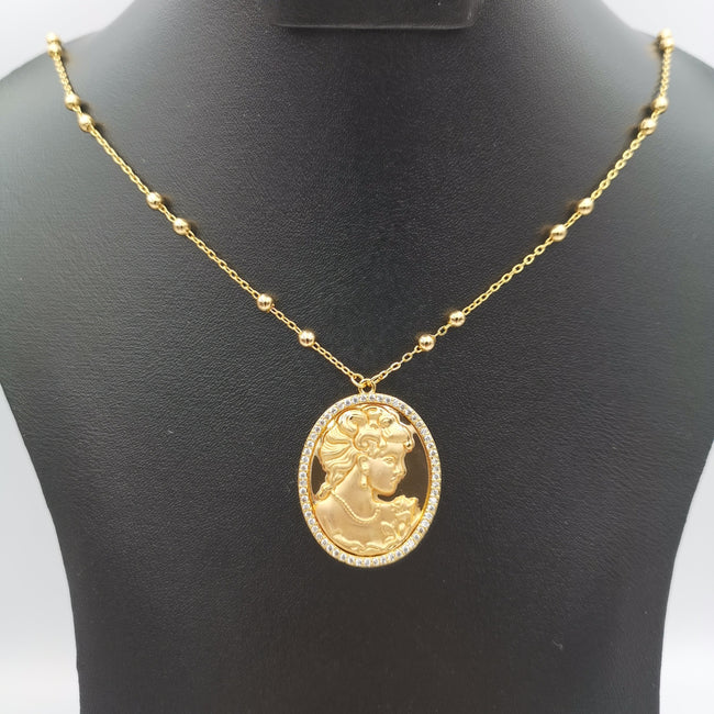 24K Gold Plated Camay Necklace - Offer Hunts