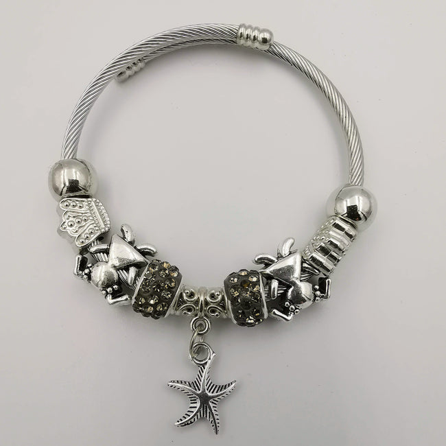 Crystal Charm Bracelet Star - Multiple Colors - Offer Hunts
