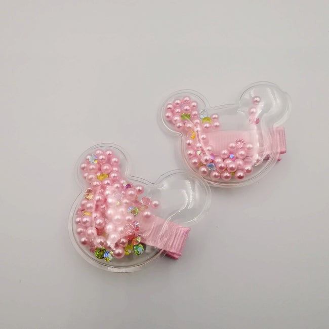 Moving Beads Mickey Hair Clips - 6 Colors - Offer Hunts