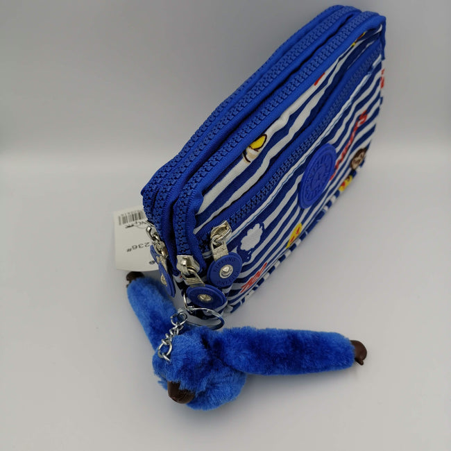 Kipling Blue Striped Purse - Offer Hunts
