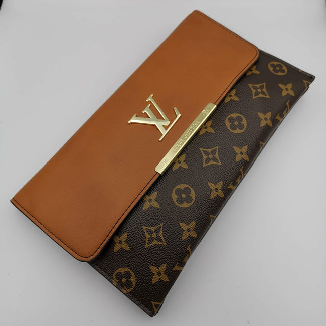 Louis Vuitton Brown Cafe Leather Bag - Offer Hunts
