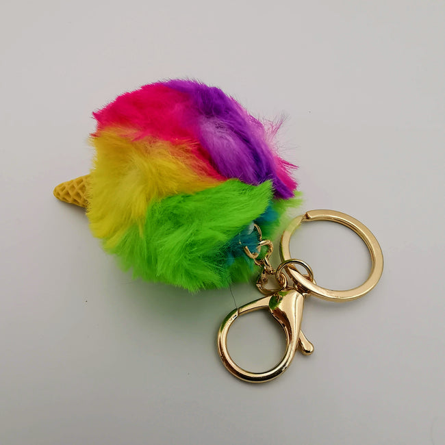 Ice Cream Fluffy Keychain - 3 Designs - Offer Hunts