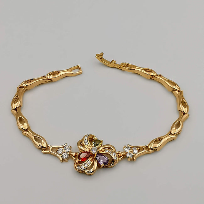 24K Gold Plated Quantum Diamond Bracelet - CD - Offer Hunts