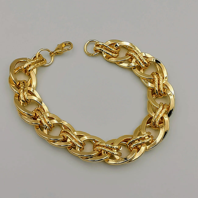 24K Gold Plated Elegant Chain Bracelet - Offer Hunts