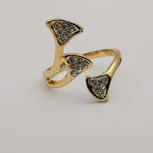 Branched Ring - Golden/Silver Fashion Accessory Ring [R006] - Offer Hunts