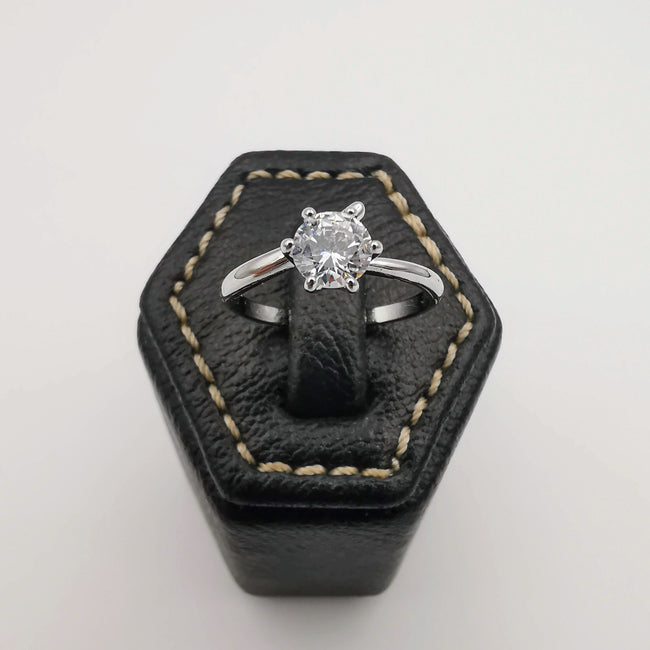 Design 1 - Silver Color Fashion Accessory Ring [R007] - Offer Hunts