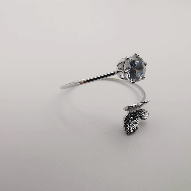 Butterfly Adjustable Fashion Ring - Silver Color [R006] - Offer Hunts