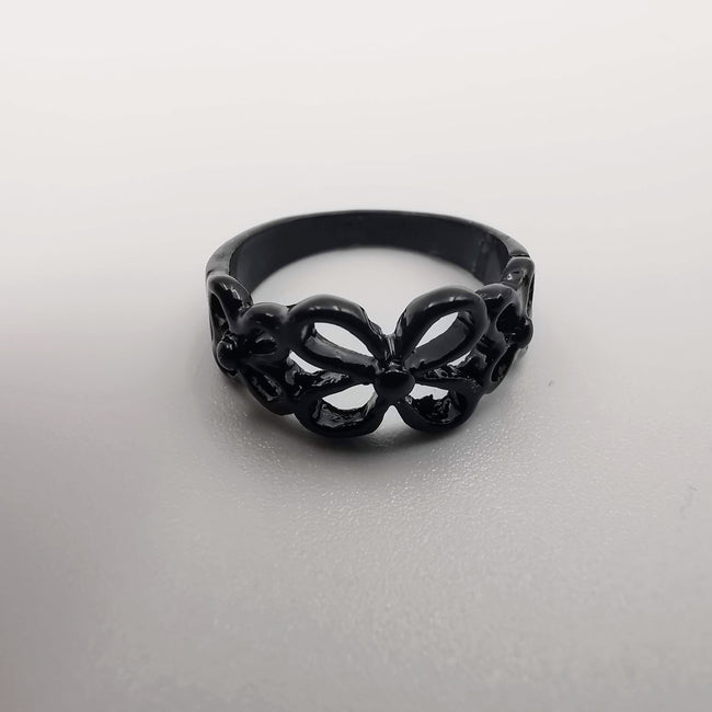 Flower Knuckle Midi Tea Fashion Ring - SILVER, GOLDEN, BLACK [R008] - Offer Hunts