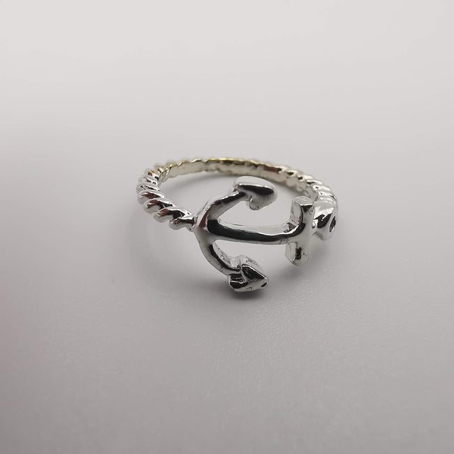 Anchor Knuckle Midi Tea Fashion Ring - SILVER, GOLDEN, BLACK [R008] - Offer Hunts