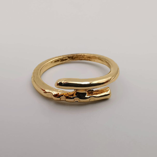 Double Pin Knuckle Midi Tea Fashion Ring - SILVER, GOLDEN, BLACK [R008] - Offer Hunts