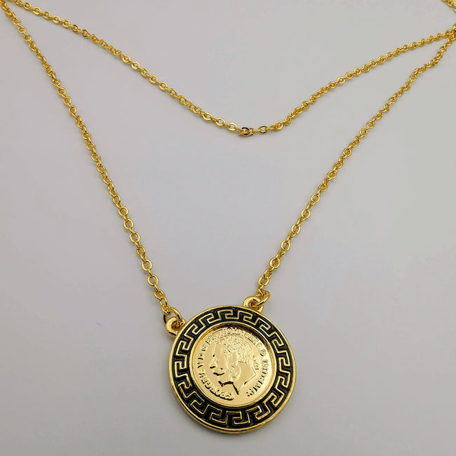 24K Gold Plated Versac.e Simple Necklace - Offer Hunts