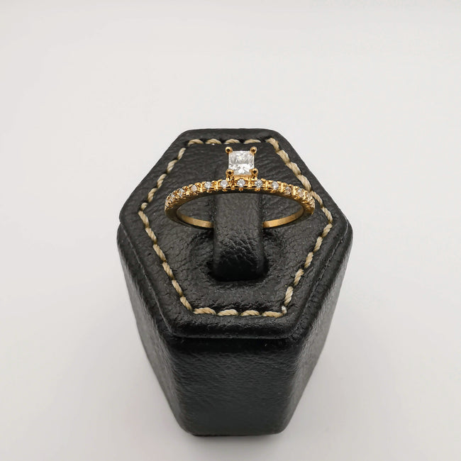 Gem Band Ring [SIZE 18] - 18K Gold Plate - Jack Fan Collection [001] - Offer Hunts
